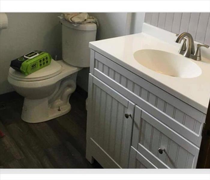 bathroom redone after water damage