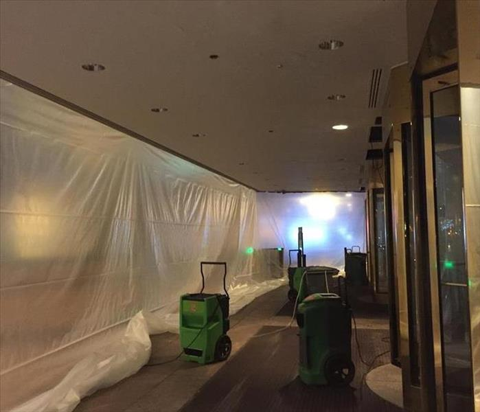 Commercial Water Damage in Downtown Columbus, Ohio After