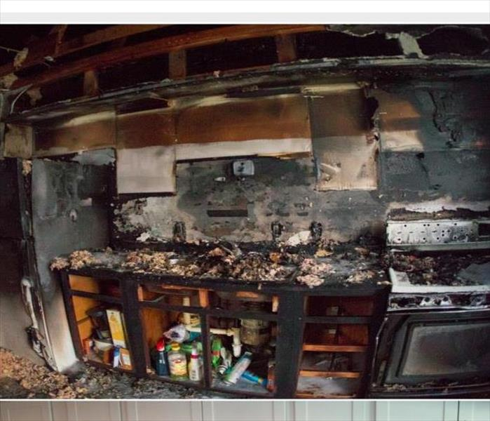kitchen burned due to fire