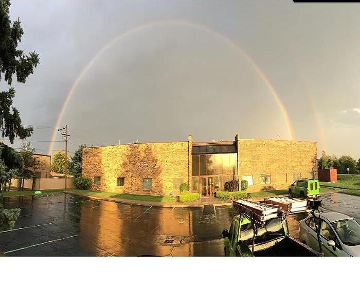 Rainbow Over our Office