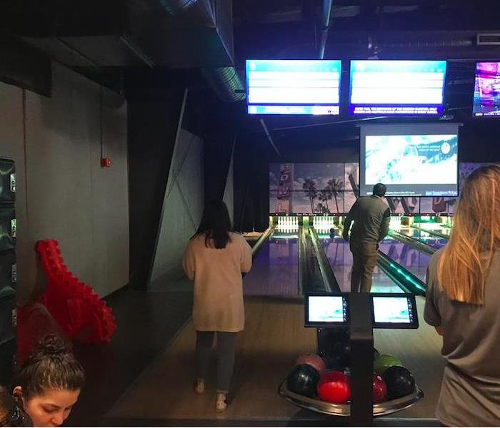 employees and clients bowling