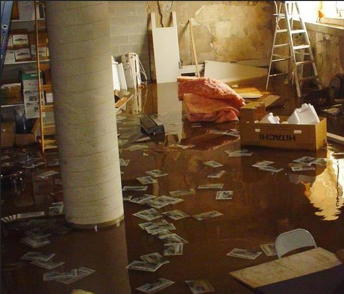 Flooding in a residential basement
